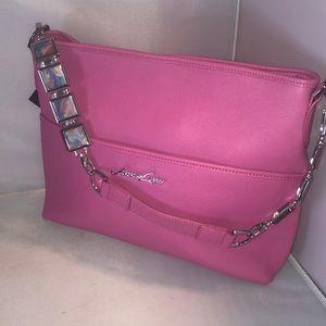 Pretty Pink Pebble Leather Purse Charm Strap L@@K